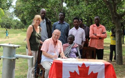 Signing of a water well contract at Buguza