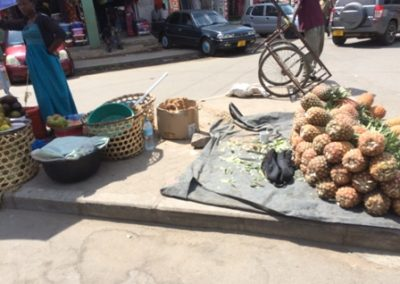 Selling Pineapples on the Street
